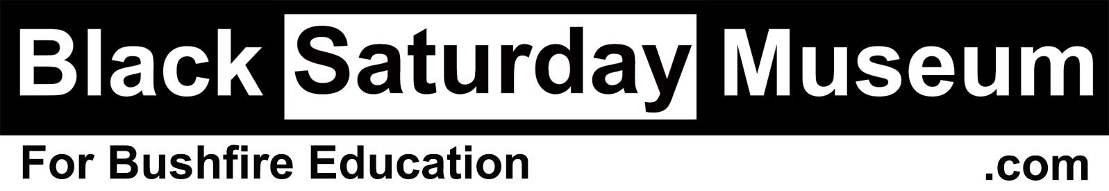 Black Saturday Museum logo